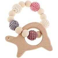 perfk 赤ちゃん 木製 ブレスレット 歯がため ビーズ おもちゃん 全6種類  - カメの形