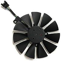 T129215SU 90MM(87MM) B fan In The Middle ASUS用 GTX1080 GTX1080TI GTX980TI GTX1070 RX580 RX VEGA VGA GPU 冷却パーツ・ファン グラフィックカードファン