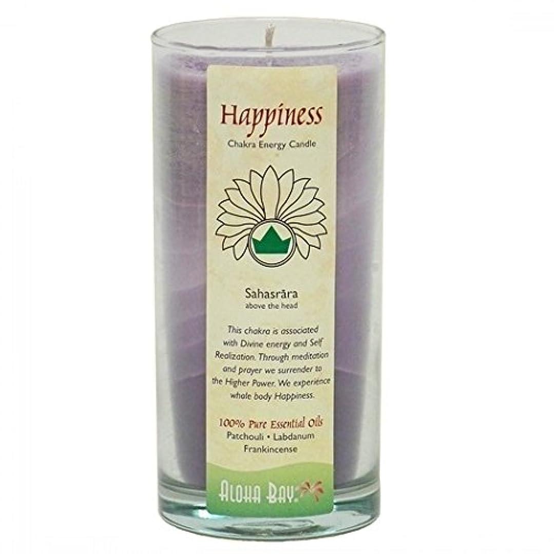 ジャンプするつかいますエーカー海外直送品Candle Chakra Jar, Happiness 11 oz by Aloha Bay