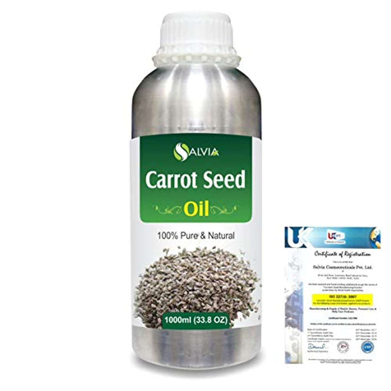 敏感なバーベキュー投げるCarrot Seed (daucus carota) 100% Natural Pure Essential Oil 1000ml/33.8fl.oz.