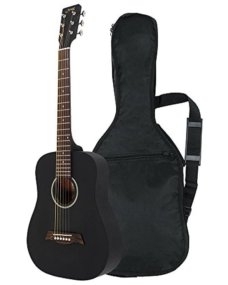 現実噴火ふくろうS.Yairi ヤイリ Compact Acoustic Series ミニアコースティックギター YM-02/BLK ブラック ソフトケース付属
