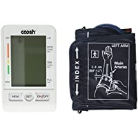 Coosh Upper Arm Digital Blood Pressure Monitor with Large LCD and 90 Memory Capacity by Coosh
