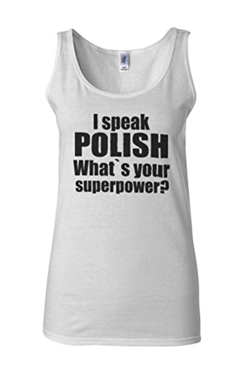失態フランクワースリー足首I Speak Polish What's Your Superpower Polska Kurwa Novelty White Women Vest Tank Top-L