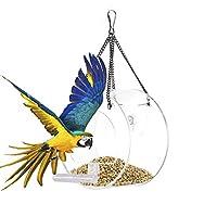 小鳥 餌台 餌箱 野鳥 えさ台 透明アクリル製 バードフィーダー 餌やり 餌入れ 給餌機 バードウォッチング 野鳥 給餌器 餌台 餌場 えさ台 小鳥 鳩 野鳥観察 吊下げ