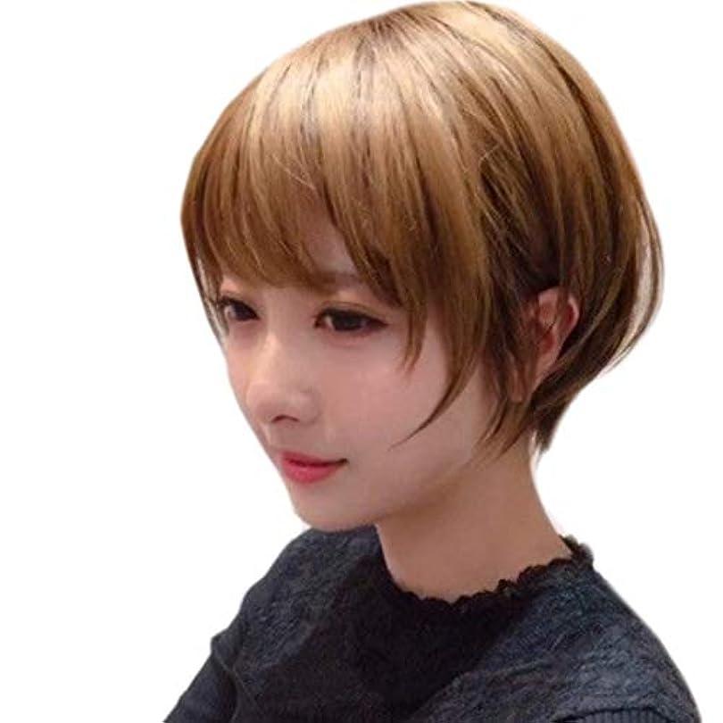 丁寧戦略Kerwinner 短いかつらふわふわボブ変態ストレートヘアかつら合成耐熱女性ヘアスタイルカスタム