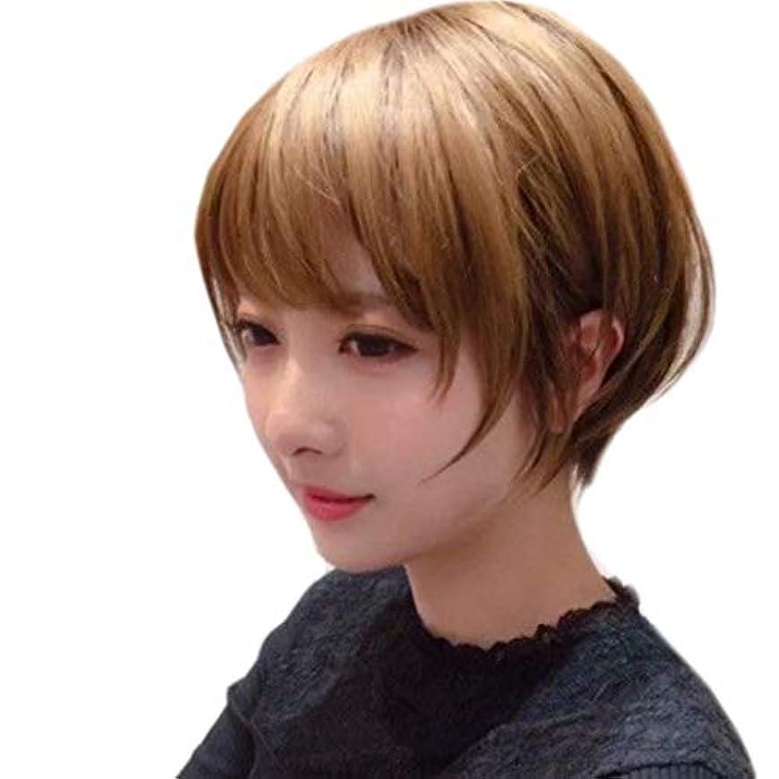 シアー解決する銛Kerwinner 短いかつらふわふわボブ変態ストレートヘアかつら合成耐熱女性ヘアスタイルカスタム