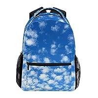 4f12e5e896cd Anmumi リュックサック 学生 リュック 高校生 レディース バックパック 子供 青空 雲 大容量 通学 通勤