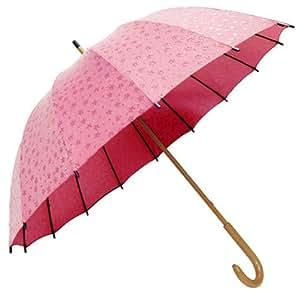 サントス 和傘 60cm 十六本骨撥水和傘 和桜 ピンク JK-02