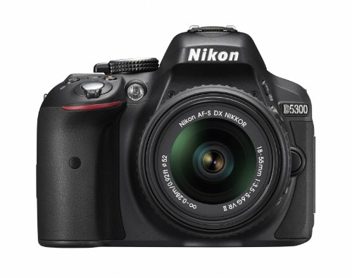 Nikon デジタル一眼レフカメラ D5300 18-55mm VR II レンズキット ブラック ...