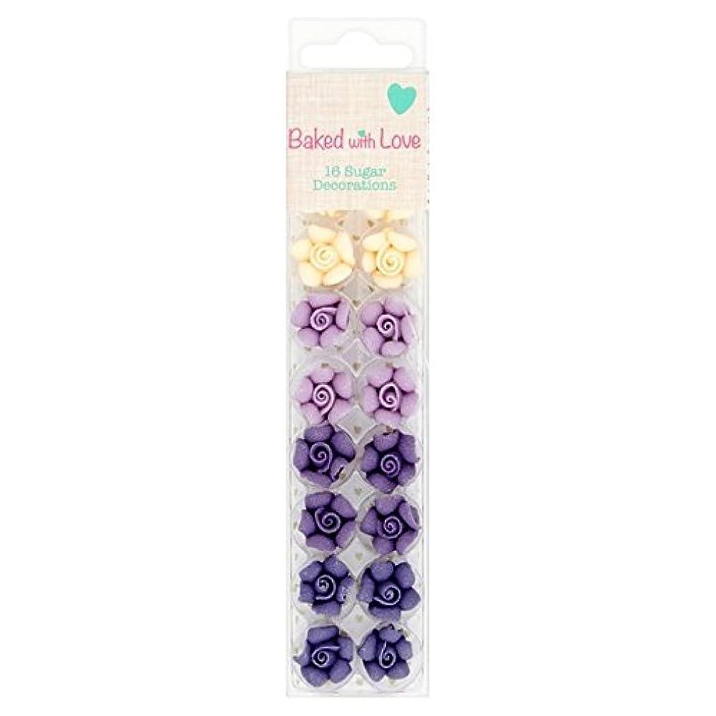 くるみ本質的ではない敬意(Baked with Love (愛を込めて焼きました)) 紫オンブル砂糖の飾りパックあたり16 (x2) - Baked With Love Purple Ombre Sugar Decorations 16 per pack (Pack of 2) [並行輸入品]