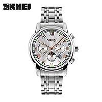 ZHANGZZ SKMEI腕時計美しい時計 WATCHビジネスゴールデンコードパーソナリティ防水スチールベルトメンズクォーツウォッチWATCH (Color : 1)