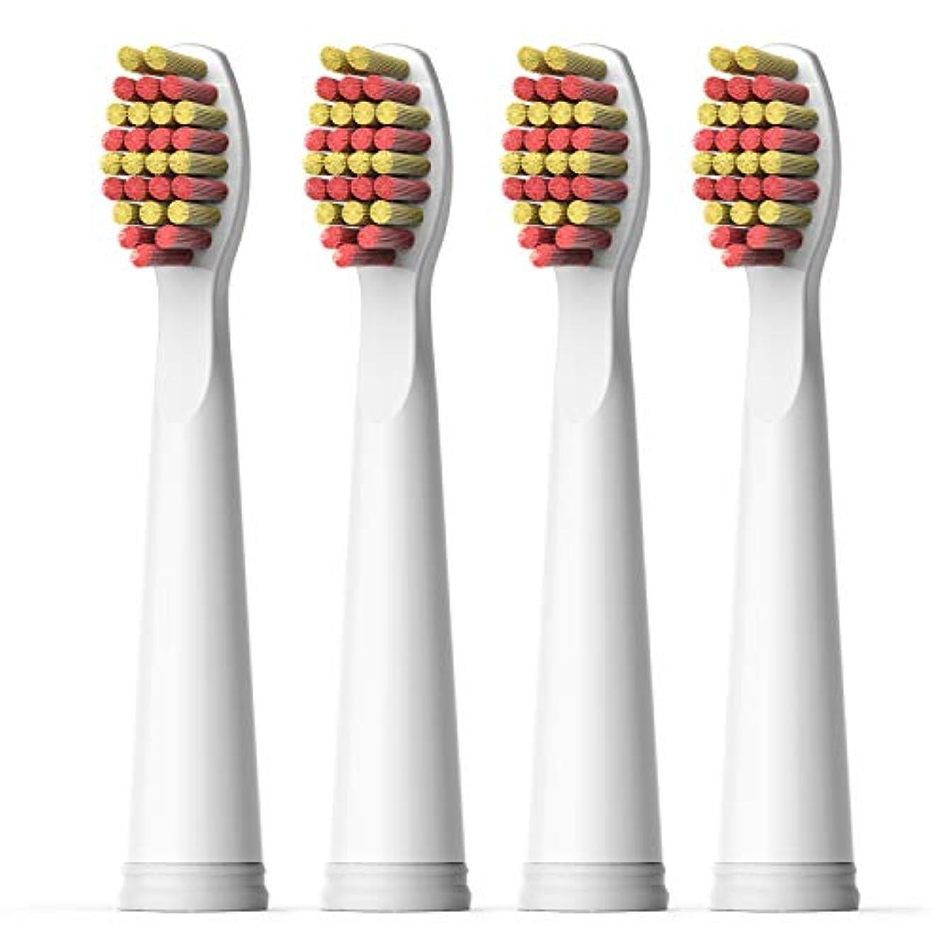 中央不機嫌そうな値するFairywill 電動歯ブラシ用 替ブラシ 4本入 互換ブラシ ブラシヘッド やわらかい BH04