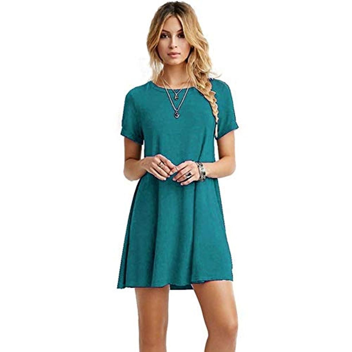 融合うなずく答えMIFAN の女性のドレスカジュアルな不規則なドレスルースサマービーチTシャツドレス