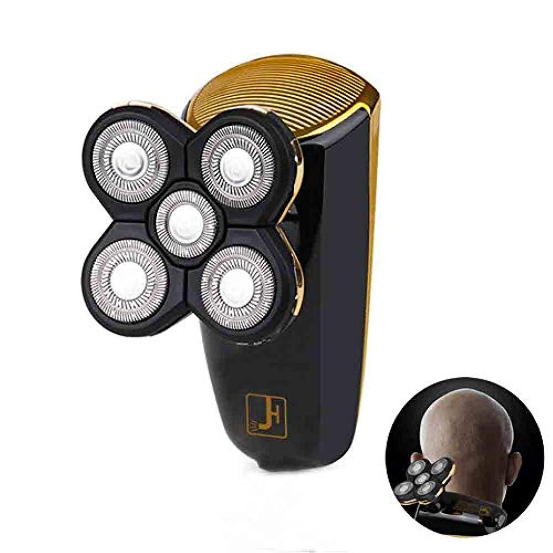 見て人種どこにも電気シェーバー、USB 充電5頭電気シェーバー全身洗浄することができます、LED ブートディスプレイ車脱毛、黒
