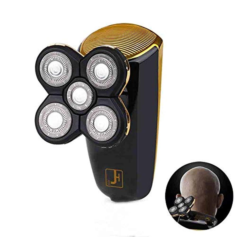 アカデミー魅惑する苦しむ電気シェーバー、USB 充電5頭電気シェーバー全身洗浄することができます、LED ブートディスプレイ車脱毛、黒