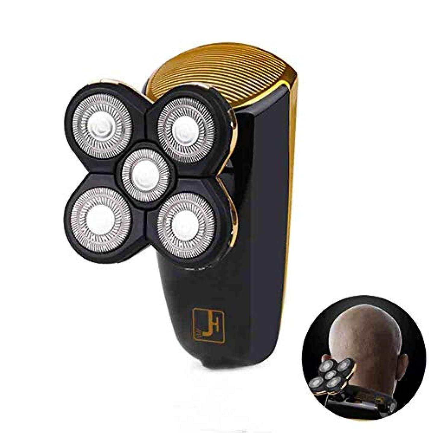 クライストチャーチ単位ジョージスティーブンソン電気シェーバー、USB 充電5頭電気シェーバー全身洗浄することができます、LED ブートディスプレイ車脱毛、黒
