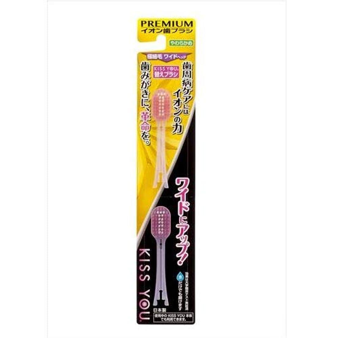 ピッチ寛大な早くワイドヘッド歯ブラシ替えやわらかめ2本 K37
