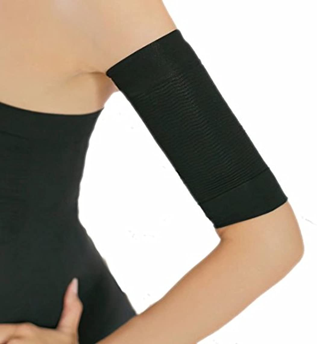 痛みダニまともなSimonJp 二つの腕サポーター 着圧サポーター 引き締め 脂肪燃焼 (2枚組)