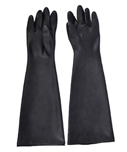 [해외]고무 장갑 긴 장갑 세이프티 두꺼운 작업 도금 분사 약제 사용 청소 농림 수산 토목/Rubber gloves Long gloves Safety Plating for thick working Sand blasting Drug use Cleaning Agriculture~ forestry and fisheries civil engineering