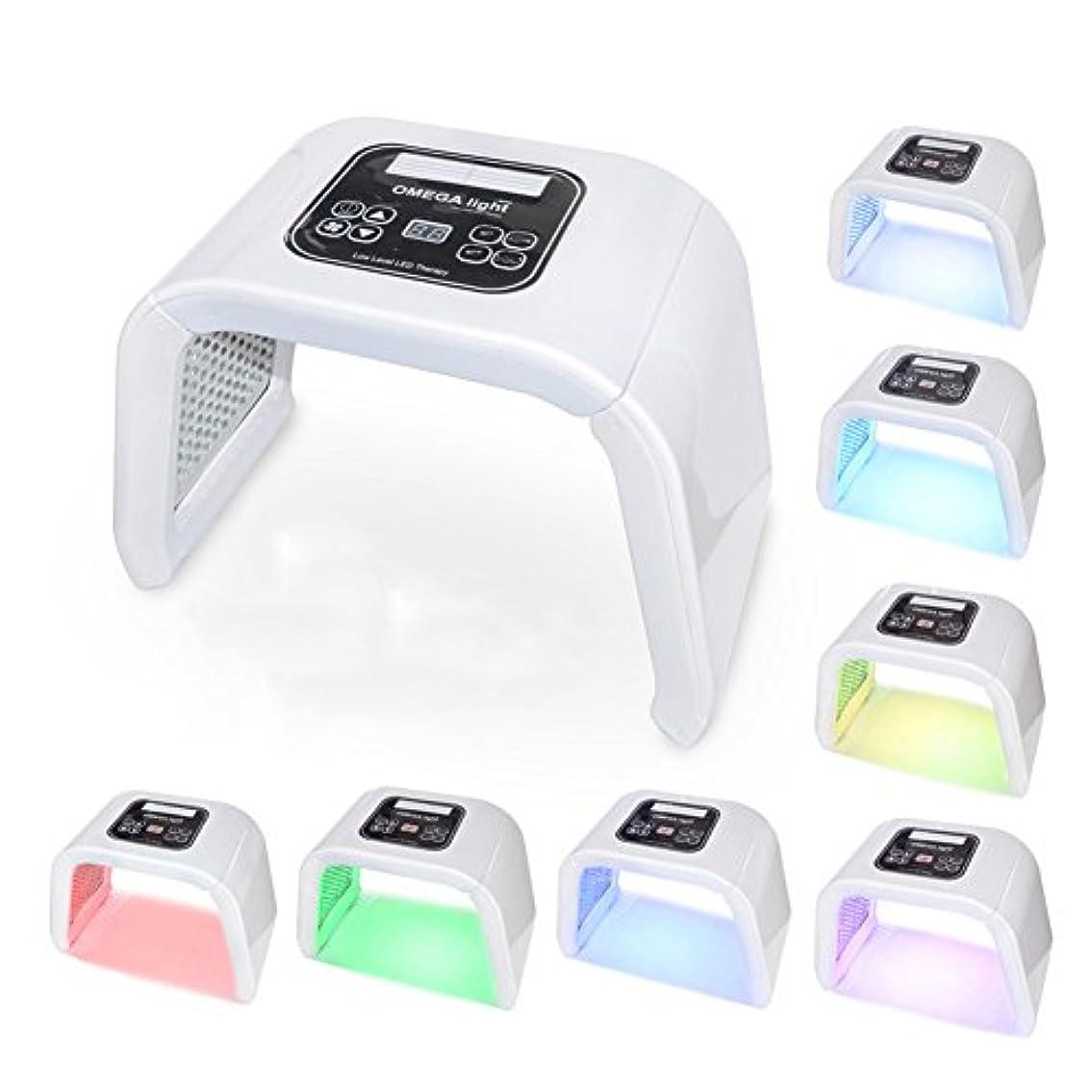 廃止する量恐怖光子治療器7色ライトニキビ美容器具,White