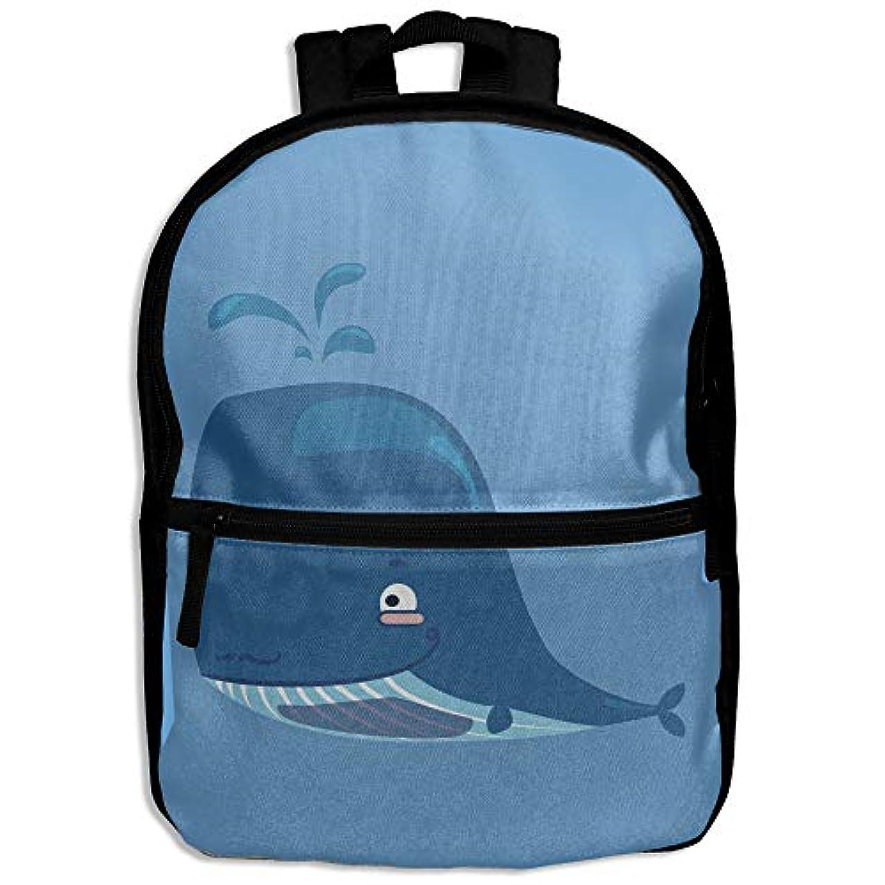 頼る立ち向かう俳句キッズバッグ キッズ リュックサック バックパック 子供用のバッグ 学生 リュックサック クジラ 海洋 アウトドア 通学 ハイキング 遠足