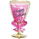 Yuena Care 飾り付け シャンパン ボトル ゴブレット バルーン 風船 気球 フォイルバルーン 結婚式 誕生日パーティー デコレーション ハッピーバースデーバナー パーティー用品