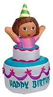 Gemmy Self Inflating Dora the Explorer on Happy Birthday Cake, 4-Feet Long [並行輸入品]