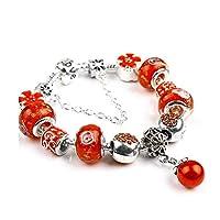 ZYL-YL ヨーロッパやアメリカのナショナル・スタイルの真珠のペンダントのブレスレット、ファッションDIYガラスビーズビーズのブレスレットロング20センチメートル赤
