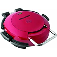 George Foreman GRP0720RQ 360 Grill with 2-Removable Grill Plates, Bake Pan and Cookbook, Red by George Foreman