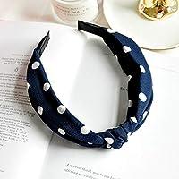 AKDSteel Women Girls Headband Top Knot Turban Headband Cross Bandage Scarf Hair Accessories 19#