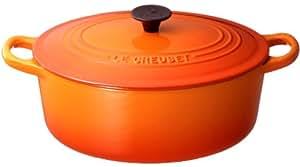 ルクルーゼ ココット オーバル 25cm オレンジ 2502-25-09 【日本正規販売品】