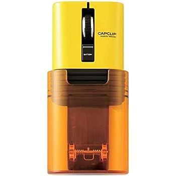 エレコム マウス Bluetooth (iOS対応) Sサイズ 小型 3ボタン 静音 クリック音95%軽減 モバイル 充電式リチウムイオン電池 CAPCLIP イエロー M-CC2BRSYL