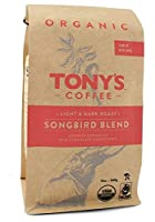 "Tony's Coffee""Songbird Blend"" Light Roasted Fair Trade Organic Shade Grown Whole Bean Coffee - 12 Ounce Bag"