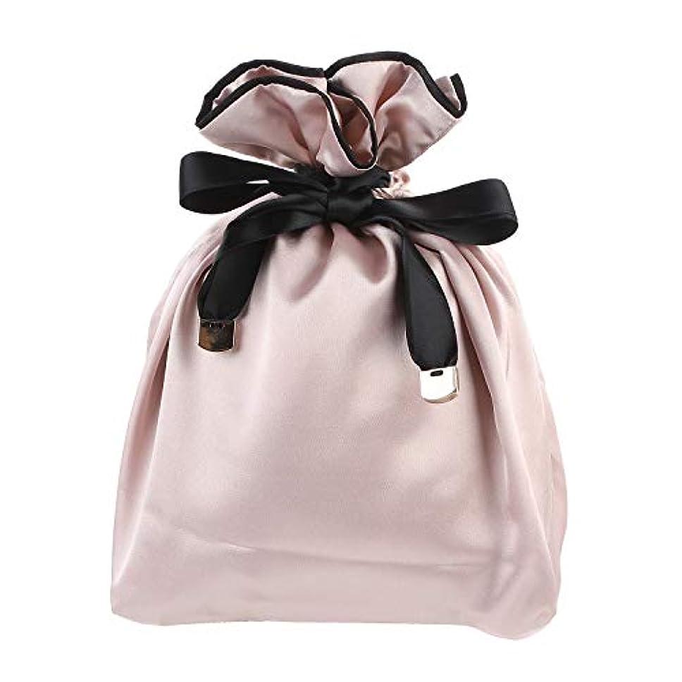 免除合意くまNEOVIVA 巾着 袋 女の子 化粧品ポーチ 小物入れ スベスベ 旅行 ギフト ピンク 巾着袋だけ