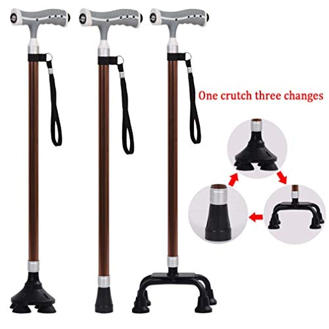 カーペットつぶやき平均調節可能な松葉杖、LEDライト付きアルミニウム歩行補助具-軽量、バランス、リストストラップ、ダンピング滑り止めマット、男性、女性、高齢者用