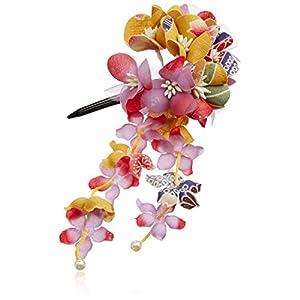 [粋花]Suika和柄髪飾り152 カラシ