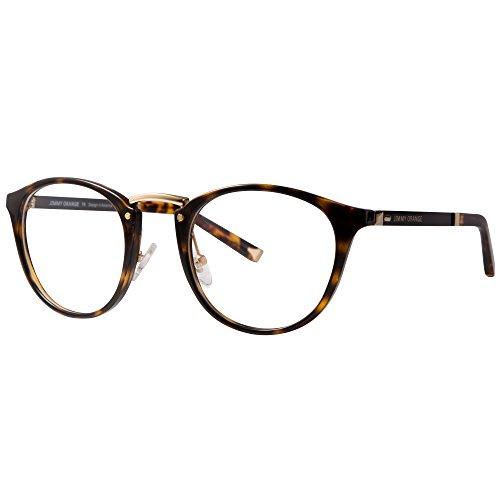 (ジ―オ―)JO伊達メガネ レディース メンズ 度なしメガネ おしゃれな 鼻型調整 ファッション 眼鏡フレーム ボストン 丸型 TR90 超弾性 メガネケース付き JO512 ベッコウ