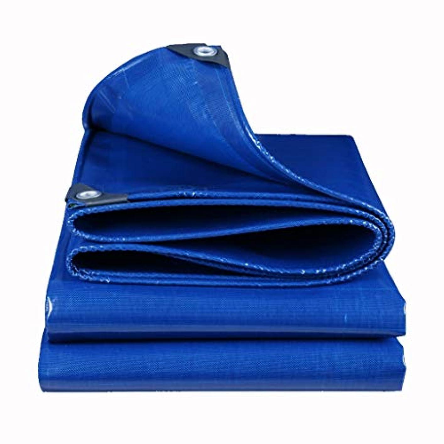イタリックやりがいのある理論的アウトドア 防水シートオーニングキャノピー大型トラック専用高強度シルクポンチョ厚手防水シート防水日焼け止め着用防水シート テント (Color : Blue, Size : 400*800cm)
