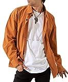 『[meryueru(メリュエル)] 選べる2タイプ デザインスリーブ シャツジャケット ドロップショルダー デザイン カジュアル メンズ』画像
