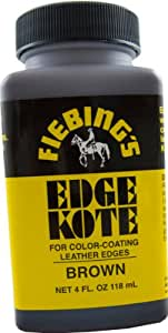 Fiebing's Edge Kote 4 Oz Brown Leather Colour Paint Dye Leathercraft 2226-01 by Fiebing: ホーム&キッチン
