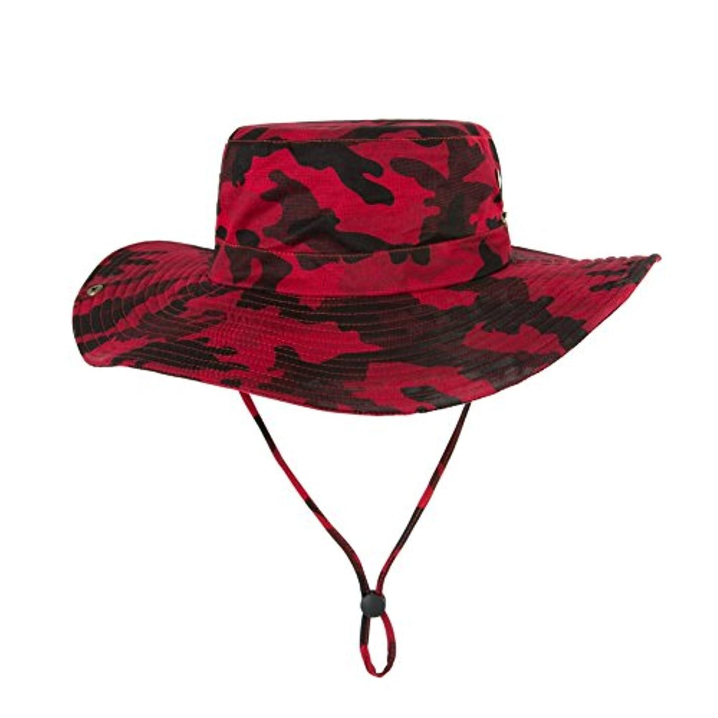 トラフィック取り消す証明する迷彩 帽子 メンズ 夏 ハット つば広い 登山 UV帽子 通気性 サイズ調整可能 2way 日焼け ひも付き 日よけ帽子 釣り アウトドア 男女兼用