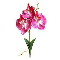 三重層ミニ胡蝶蘭假花人造花花瓶花の芸術プラスチック材質(29X6cm、白、緑、ピンク、赤、紫、バラ)