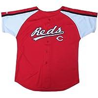 MLB Boy 'sカラーブロックボタンダウンジャージー レッド