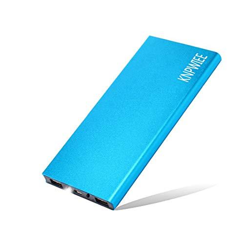 KNPWIEE モバイルバッテリー 大容量 15000mAh Power Bank 超薄型 ポータブル充電器 高速充電2 USB出力ポート(2.1 A + 1.0 A)モバイル充電器 金属デザイン 持ち運び充電器 最小 最軽量 携帯バッテリー スリム LEDランプ 薄型充電器 互換性のあるAndroidスマホ/各種スマートデバイス など対応