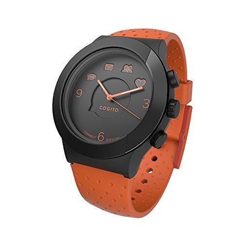 活動量計機能付スマートウォッチ COGITO FIT OrangeBlack CW3.1-005-01