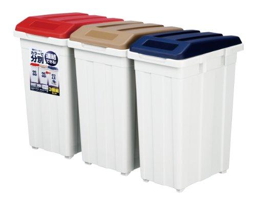 アスベル カラーで分別 連結できる丈夫なふた付きゴミ箱 分別ダ...