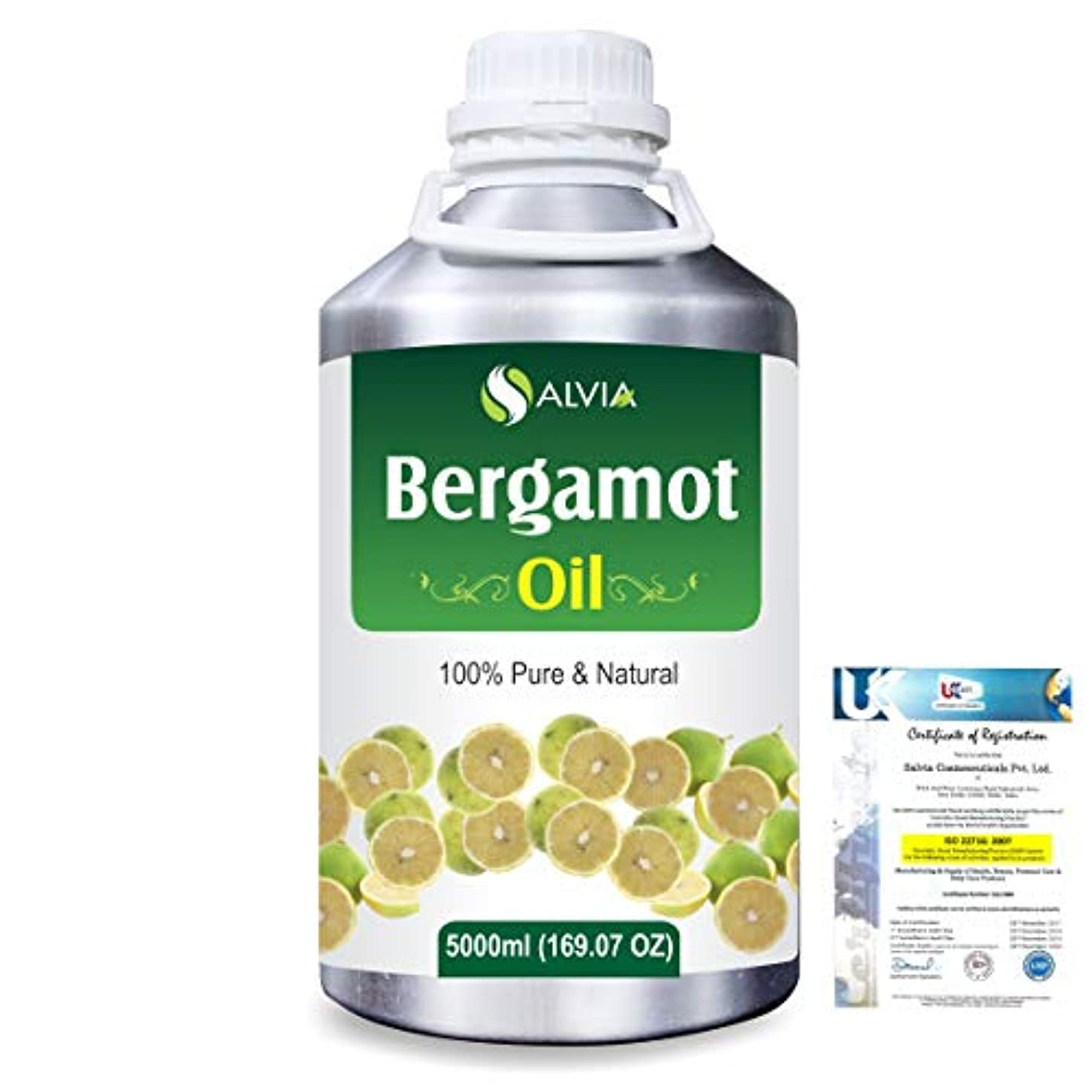 Bergamot (Citrus aurantium) 100% Natural Pure Essential Oil 5000ml/169fl.oz.