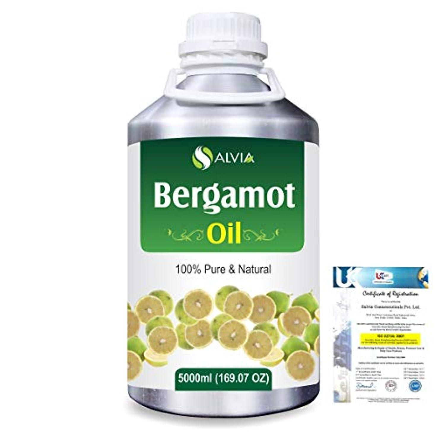 銛割れ目条件付きBergamot (Citrus aurantium) 100% Natural Pure Essential Oil 5000ml/169fl.oz.