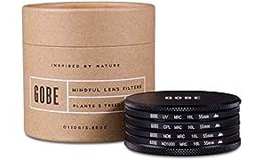 Gobe Filter Kit 55mm MRC 16-Layer: UV, CPL Polarizer, ND8, ND1000