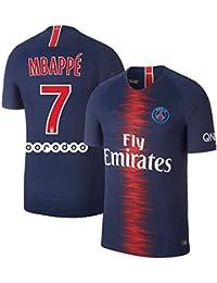サッカー2018 パリ サンジェルマンユニフォーム 上下セット MBAPPE 背番号7 MBAPPE 大人用 (大人,MBAPPE) (S)